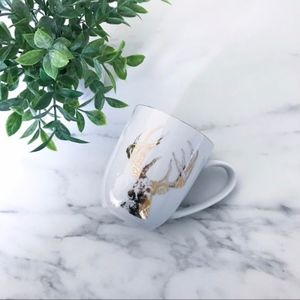 Gold Foil Reindeer Mug